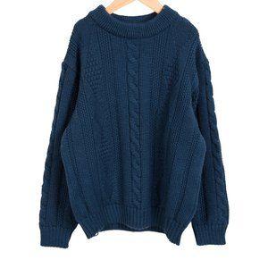 Bonpoint Paris Blue Boy's Cable Knit Sweater Sz 10